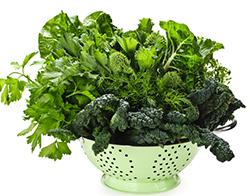 zöld leveles zöldségek
